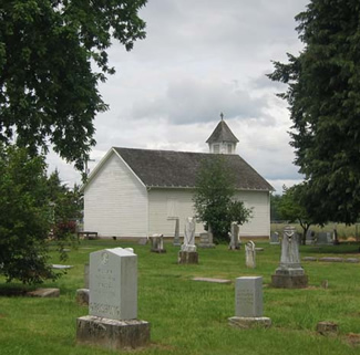Church at the Brooks Pioneer Memorial Cemetery